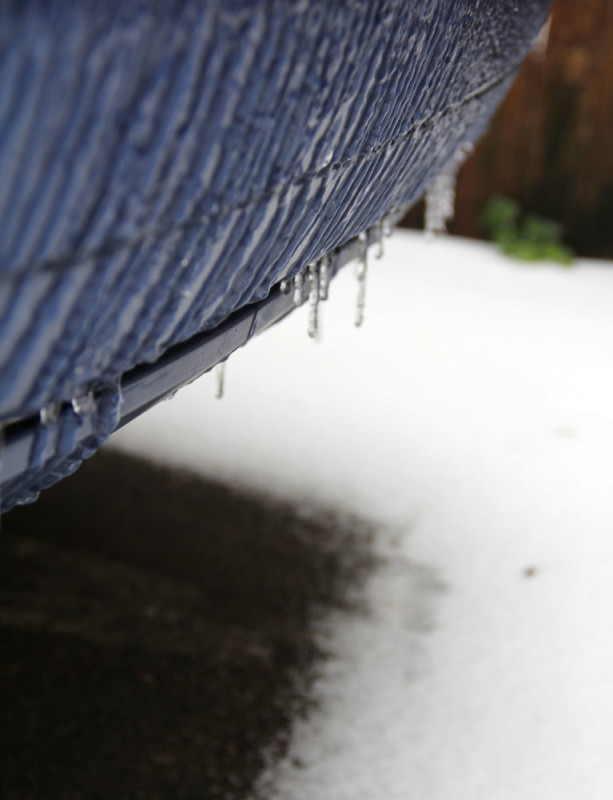 car bumper icicles dallas | via @veritasphotog