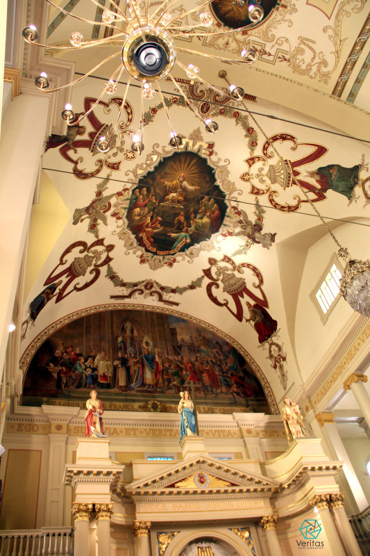 St Louis Cathedral ceiling