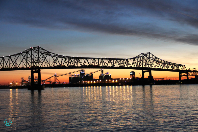 Mississippi River Bridge at Sunset | Veritas Photography