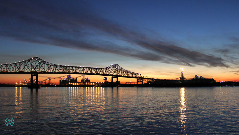 Mississippi River Baton Rouge Sunset | Veritas Photography