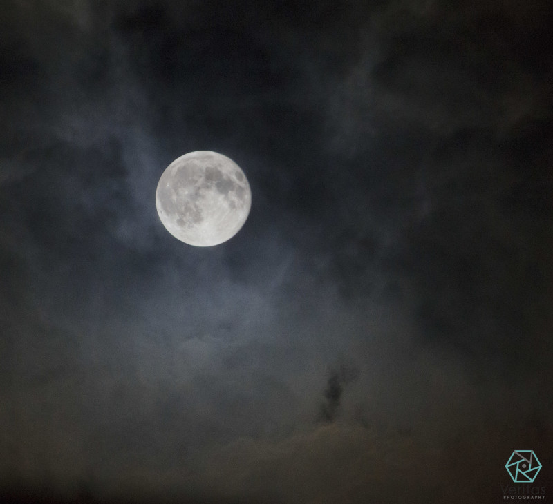 Super Moon & Clouds | Veritas Photography