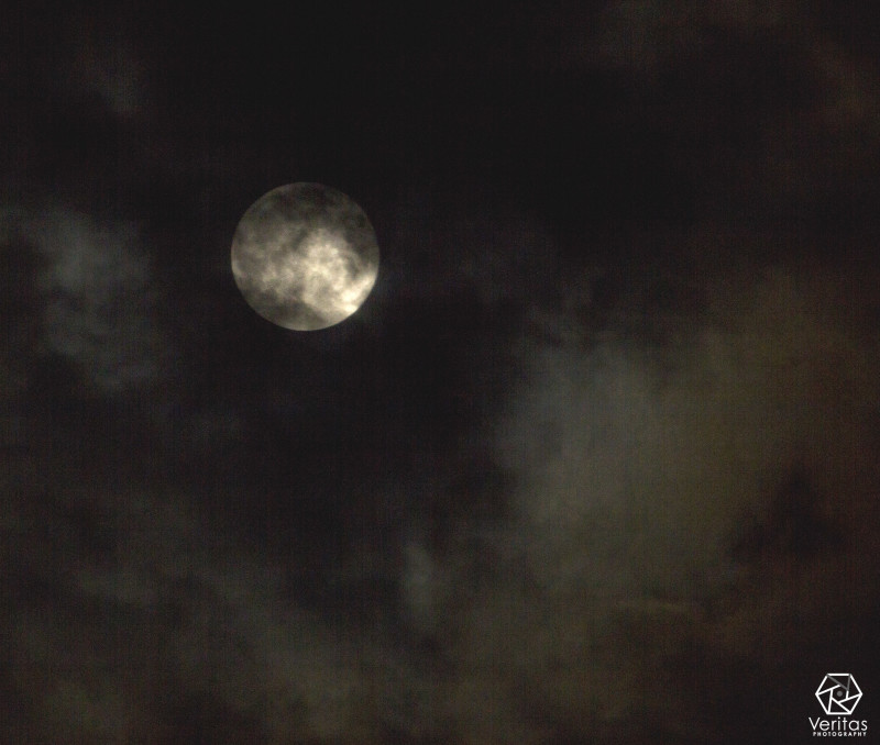 Cloudy Super Moon | Veritas Photography